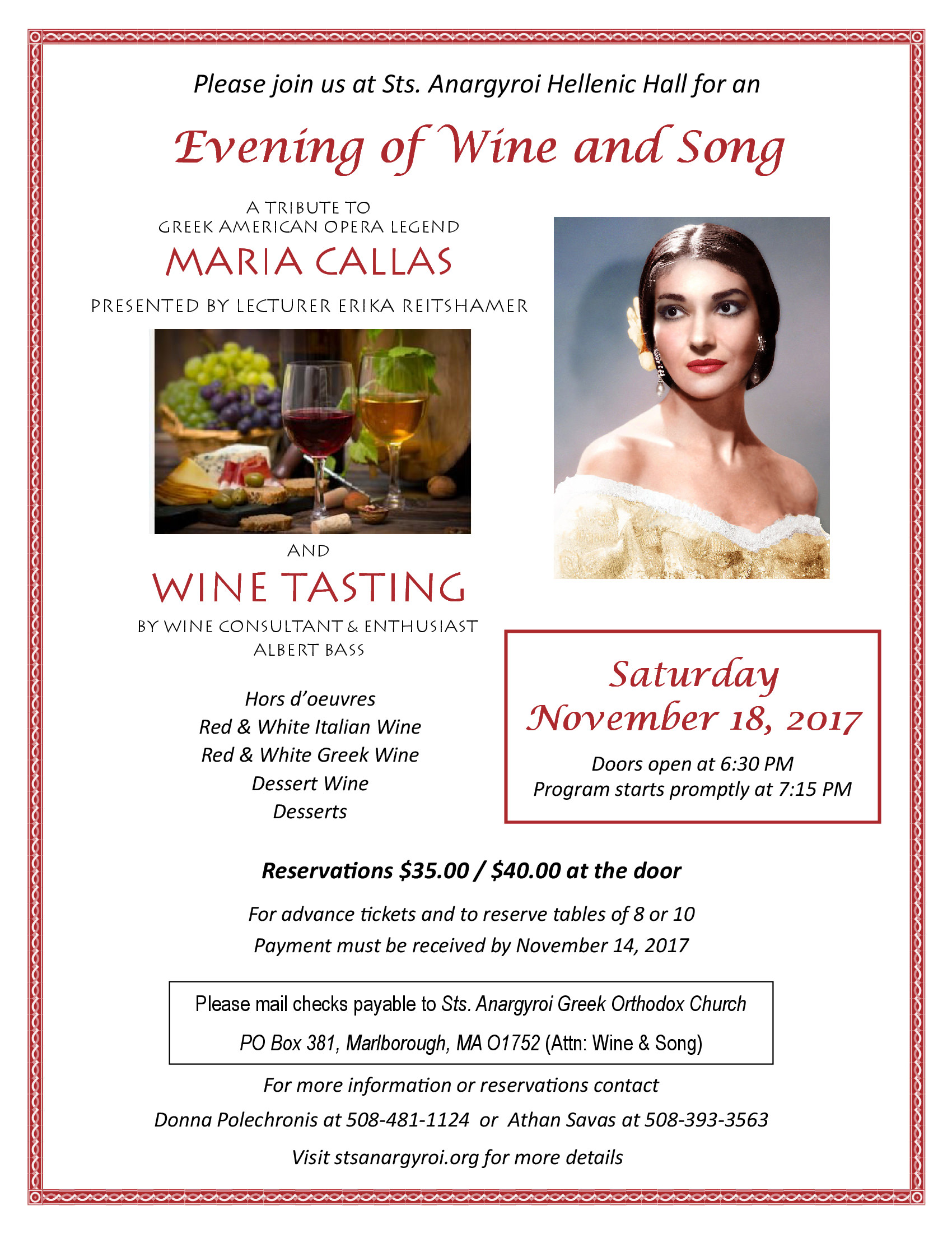 An Evening of Wine and Song at Saints Anargyroi Greek Church