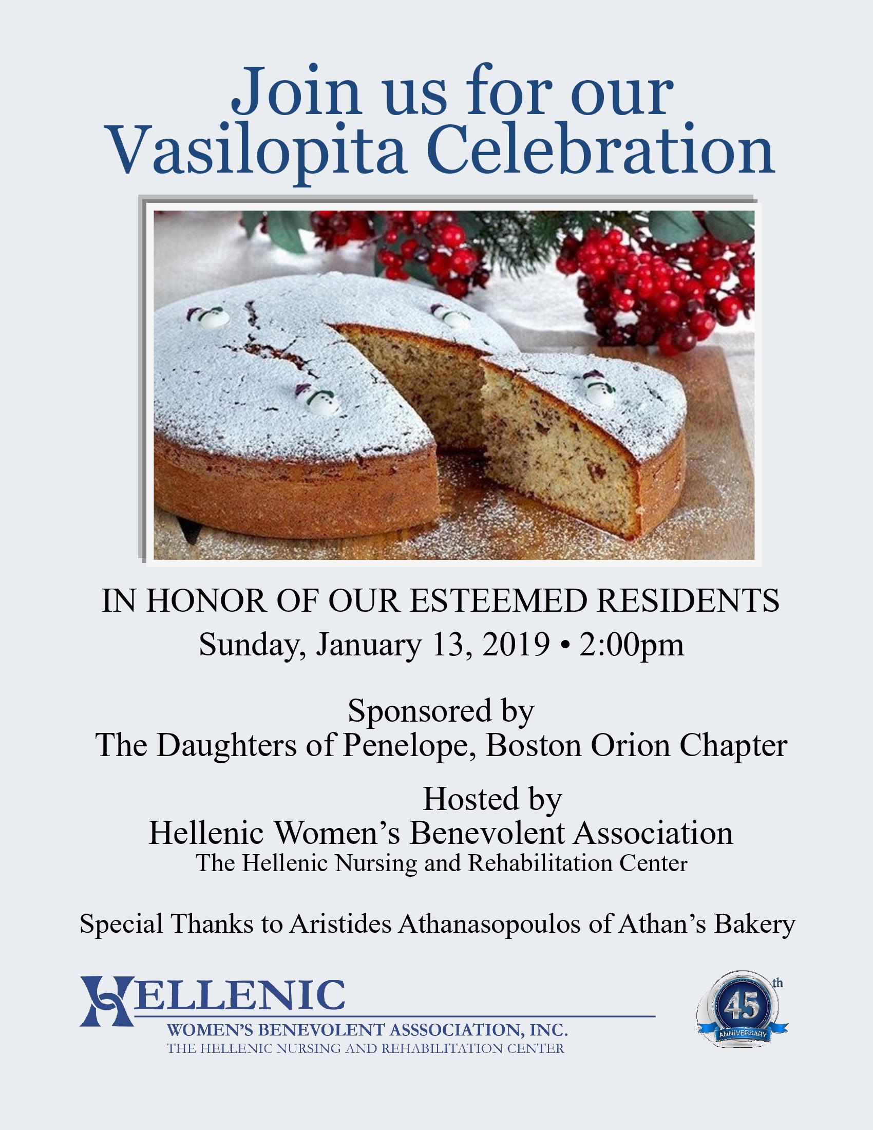 Vasilopita Celebration at Hellenic Nursing and ...
