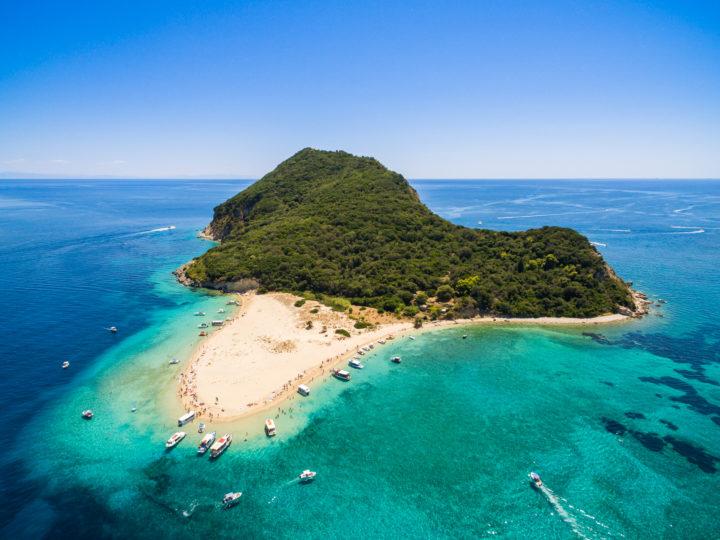 About Marathonisi Islet on Zakynthos Island