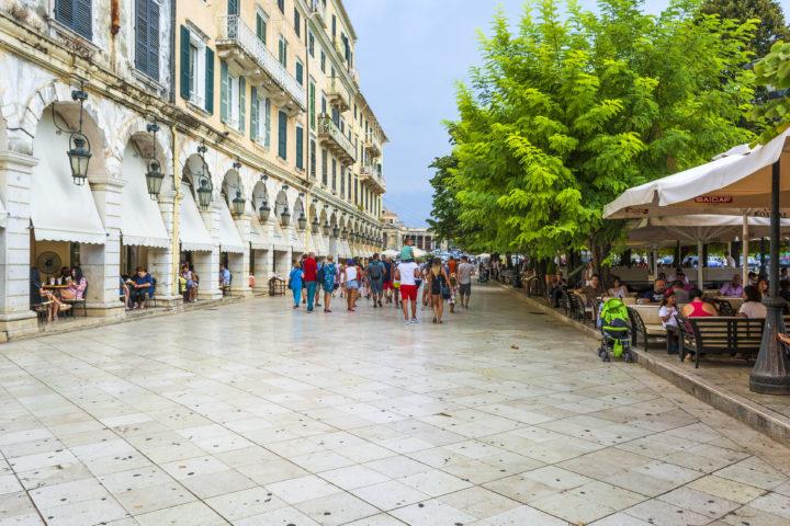 Visit Spianada Square on Corfu Greek Island
