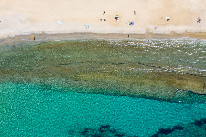 Lounge on Megali Ammos Beach in Mykonos