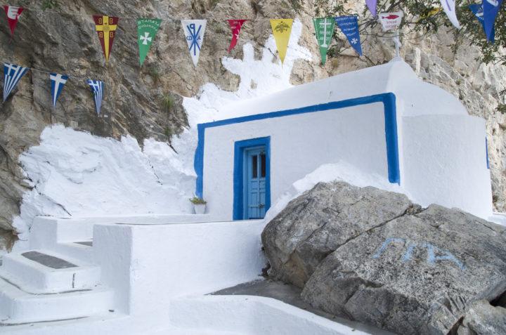 Explore Zoodochos Pigi Cave in Santorini