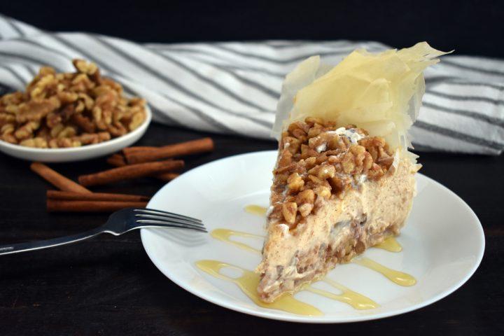 Easy Greek Style Baklava Cheesecake Recipe