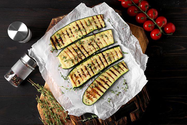 Simple Greek Grilled Zucchini