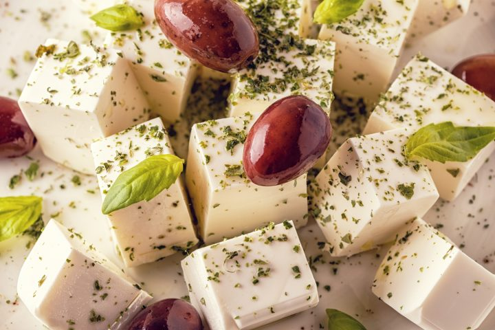 Simple Marinated Greek Cheese