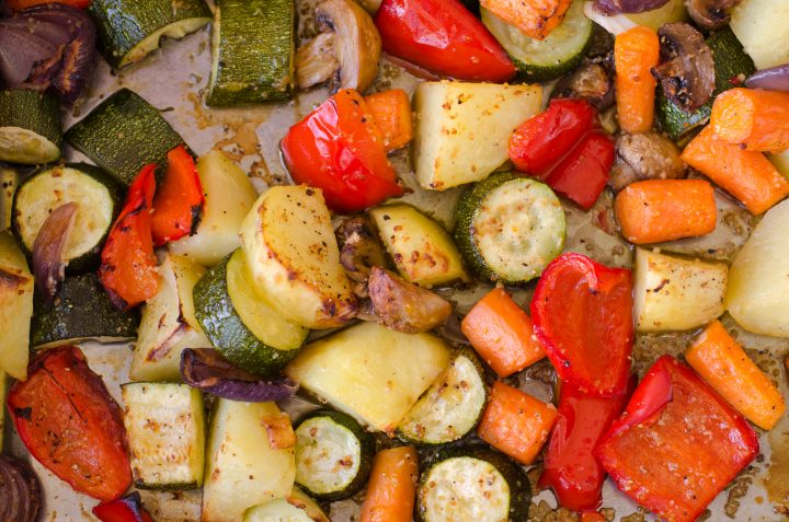 Simple Greek Roasted Vegetables with Oil and Lemon
