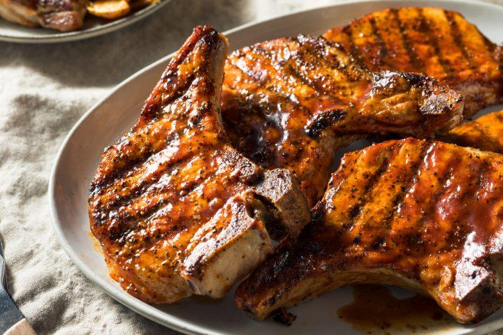Quick Greek Inspired Grilled Pork Chops